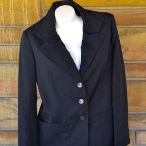 Vintage 70s Black Blazer by Vera Neumann